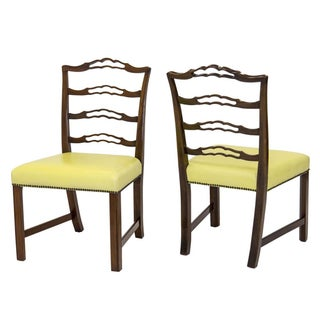 Mahogany Ladder Back Side Chairs, a Pair Preview