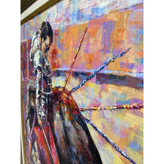 Epifanio Ortega Original Matador Painting For Sale - Image 12 of 13