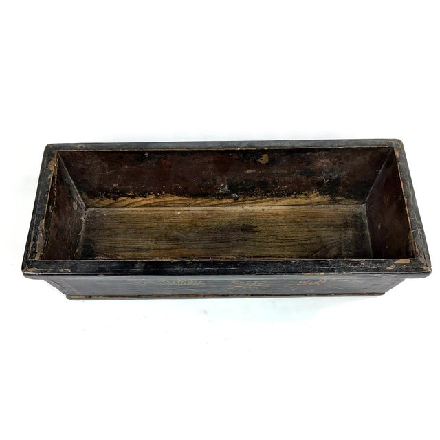 1900s Chinese Wood Painted Planter Box For Sale - Image 10 of 10