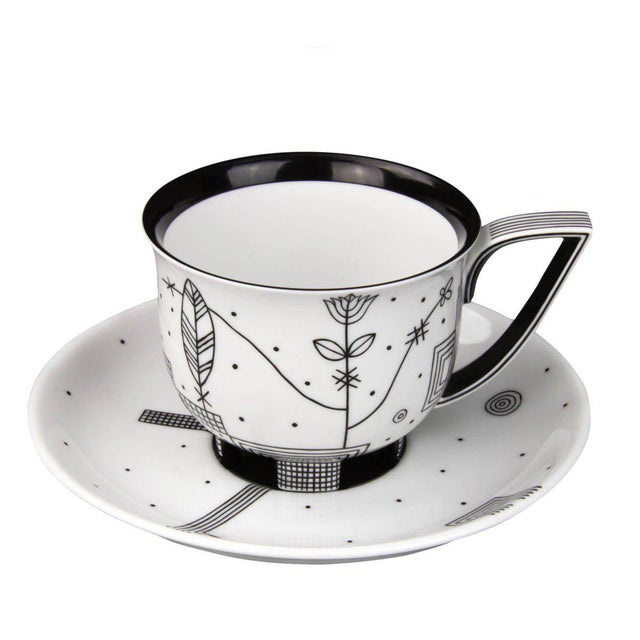 """Augarten """"Mythos"""" Coffee Cup with Saucer by Josef Hoffmann For Sale - Image 4 of 4"""