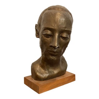 1960s Mid-Century Modern Bust Sculpture For Sale