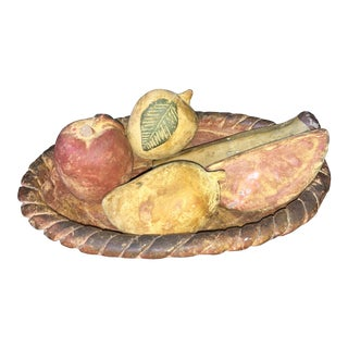 1960s Vintage French Ceramic Fruit - 5 Pieces For Sale