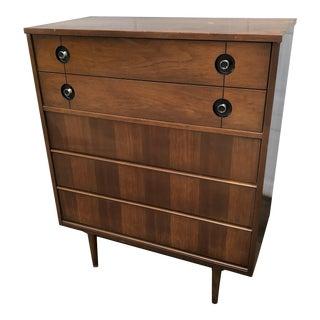 1960s Mid Century Modern Highboy Dresser