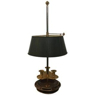 20th Century Louis XVI Style Brass Mounted Mahogany Jansen Bouillotte Lamp For Sale