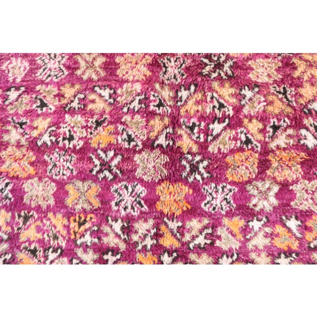 Moroccan Rug handwoven by women of the Beni M'Guild tribe in the Middle Atlas Mountains. Type of Rug: Beni M'Guild Size:...