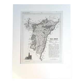 "19th C. Map of Bas Rhin, France, ""Petit Atlas..."" 1833 For Sale"