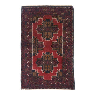 Vintage Persian Baluch Rug - 02'10 X 04'05 For Sale