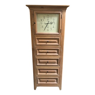 Thomasville Eight Drawer Chest with Clock