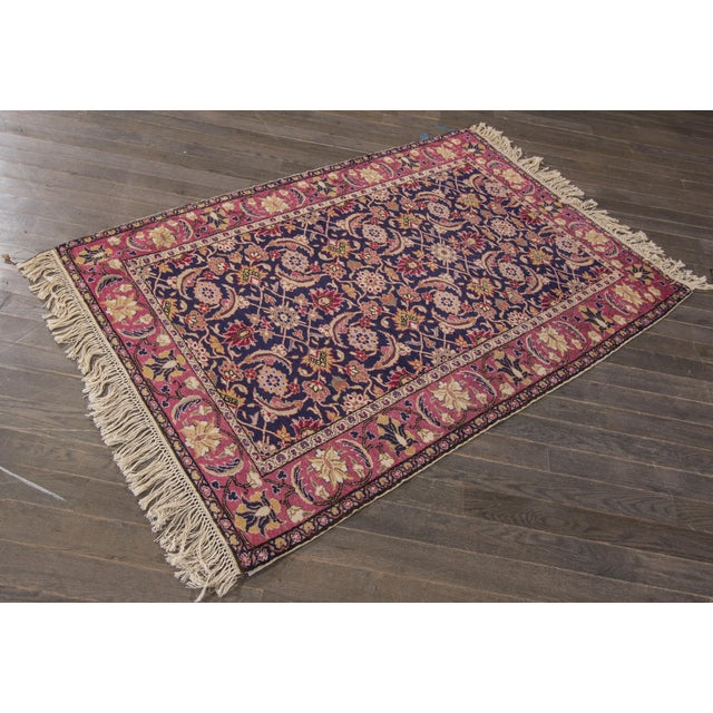 "Apadana - Antique Turkish Rug, 3'11"" x 5'9"" For Sale - Image 5 of 5"