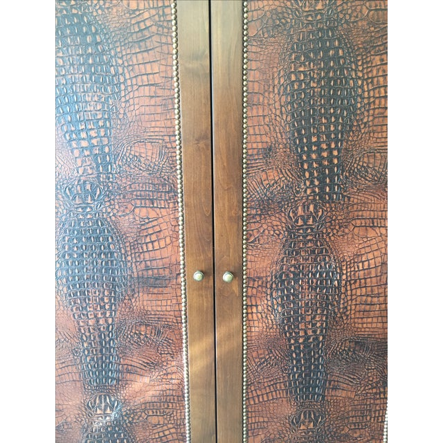 Faux Alligator Armoire - Image 3 of 5