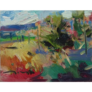 Contemporary Expressionist Style Scenic Landscape Oil Painting by Jose Trujillo For Sale