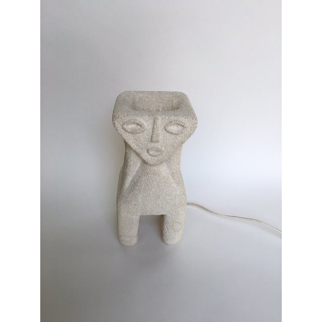 Albert Tormos Vintage Sculptural Stone Table Lamp For Sale - Image 5 of 11