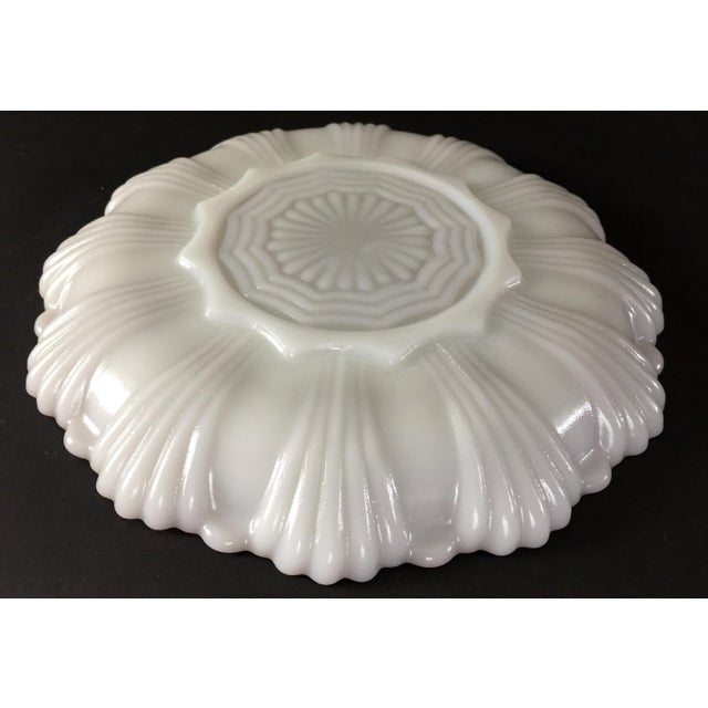 1960s Vintage Milk Glass Deviled Egg Plate For Sale - Image 5 of 6
