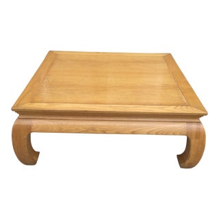 Light Wood Ming Leg Coffee Table