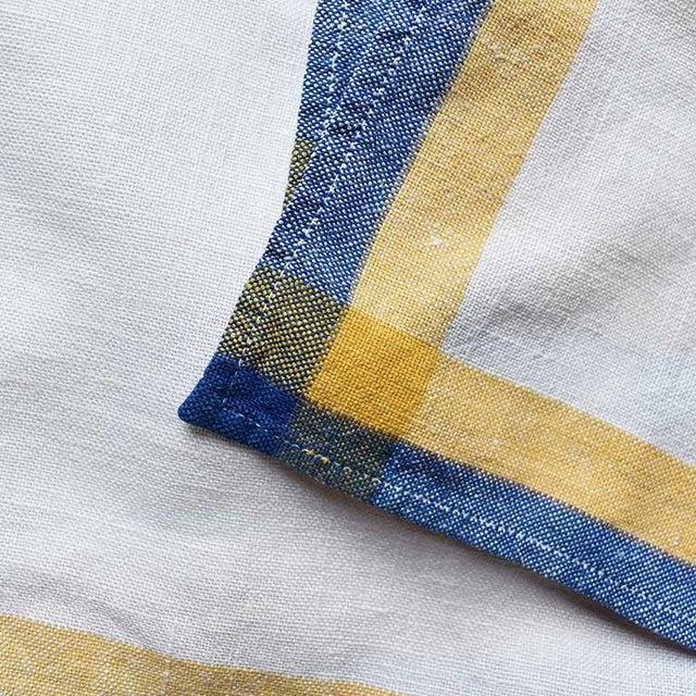 Bauhaus Linen Square Cloth Dinner Napkin Set-Set of 6 For Sale - Image 3 of 6