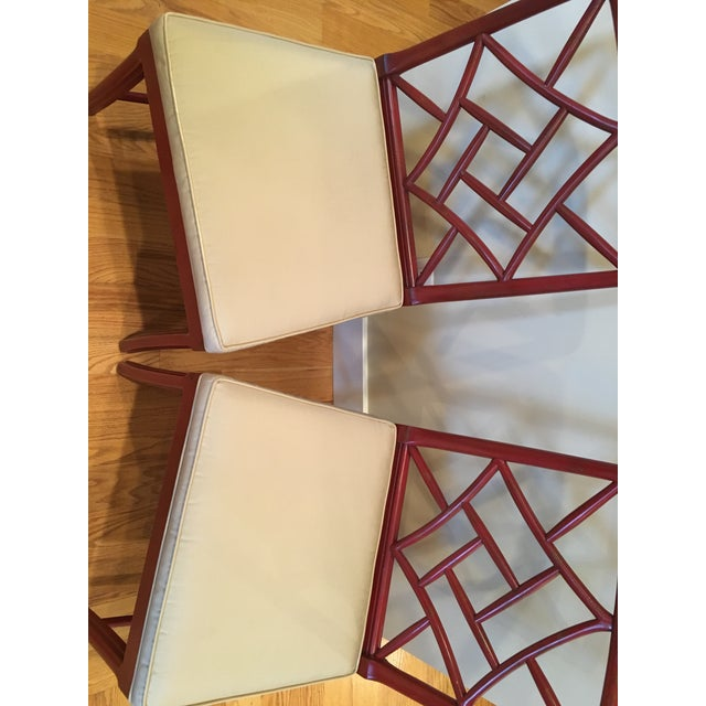 Hickory Chair Fretwork James River Side Chairs - A Pair - Image 5 of 10