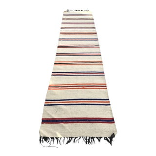 Tribal Vintage Wool Rug - 2′4″ × 11′3″ For Sale