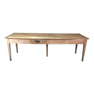 French Country Farmhouse Dining Table For Sale