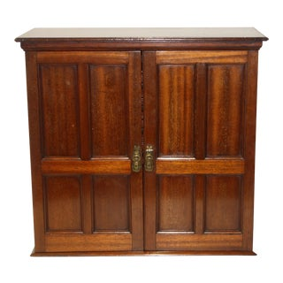 19th C. Miniature Mahogany Cabinet For Sale