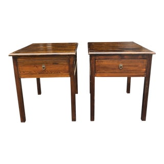 Walnut Finish Nightstands - a Pair