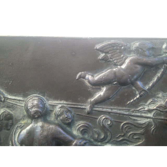 Neoclassical Bronzed Relief R.O. Prof. G. Gambogi For Sale - Image 9 of 10