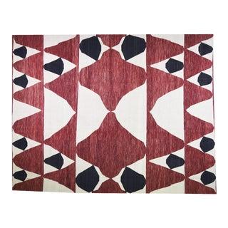 "Vintage Turkish Anatolian Hand Made Natural Color Modern Kilim,10'x12'10"" For Sale"