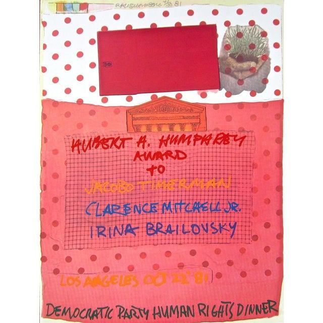 Pop Art Robert Rauschenberg Human Rights 1981 1981 For Sale - Image 3 of 3