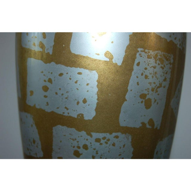 Gold Vintage Italian Eglomise Glass Table Lamps Gold For Sale - Image 8 of 8