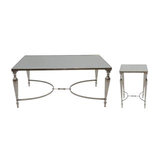 Contemporary Cakra Coffee & Side Table Set - 2 Pieces For Sale