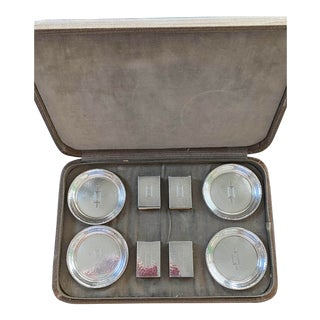Early-Mid Century Modern Smoking Set in Original Case - Set of 11 For Sale