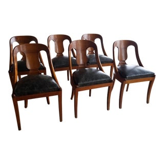 Antique Biedermeier Style Dining Chairs - Set of 6