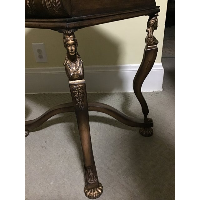 Mid 20th Century Maitland Smith Style Pulaski Book Art Deco Lady Table Last Markdown For Sale - Image 5 of 13