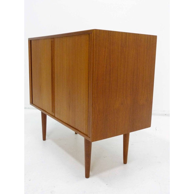 Danish Teak Record Cabinet by Povl Dinesen For Sale - Image 5 of 10