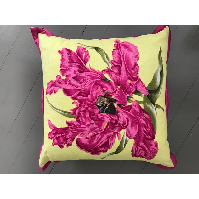 Jim Thompson Floral Pillow - Image 2 of 4