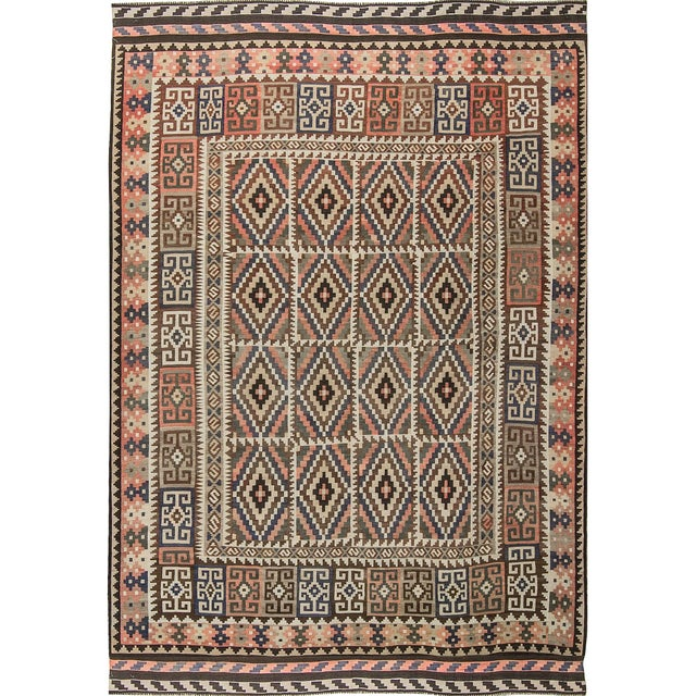Traditional Hand Woven Rug - 6'7 X 9'4 For Sale - Image 4 of 4