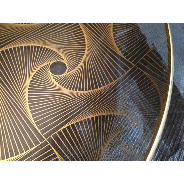 Op Art Gilded Glass Serving Plate - Image 5 of 10