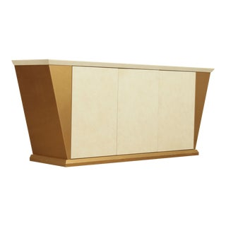 Postmodern Quality Lacquered 3 Door Credenza Sideboard For Sale