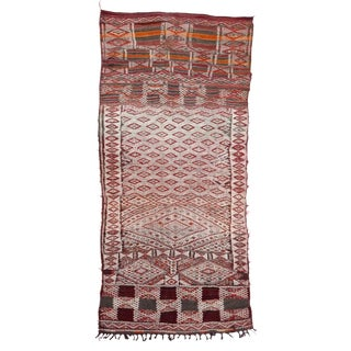 Early 20th Century Berber Rug Hanbel Kilim Rug- 5′4″ × 11′2″ For Sale