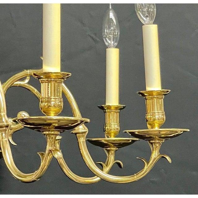Bronze Georgian Style Chandelier Having Eight Lights For Sale In New York - Image 6 of 13