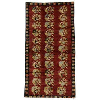 20th Century Turkish Oushak Gallery Rug For Sale
