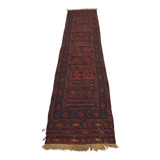 "Afghan Soumak Kilim Runner Rug-2'3'X9'7"" For Sale"