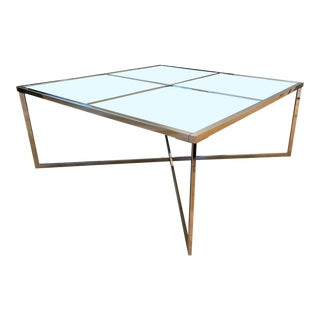 Modern BoConcept Mirror and Metal Coffee Table For Sale