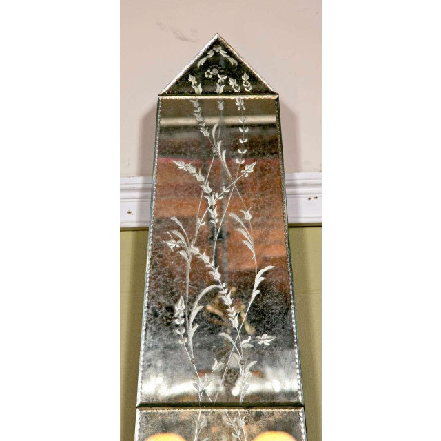 Vintage Venetian Mirrored Pilasters - A Pair For Sale - Image 7 of 7