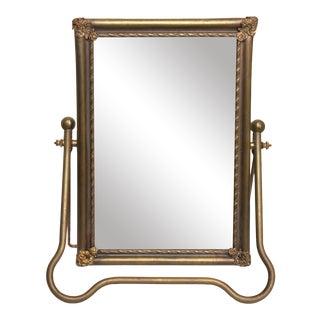 19th Century Antique Desktop Vanity Mirror For Sale
