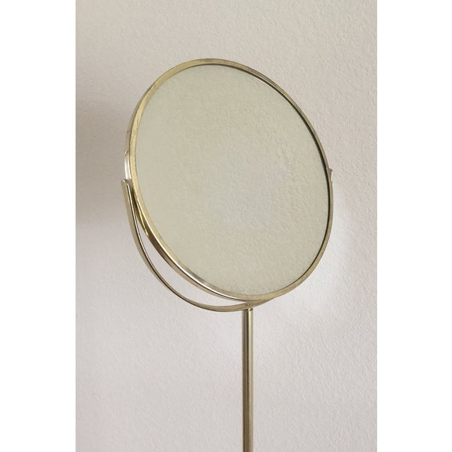 Vintage Brass Standing Face Mirror - Image 4 of 5