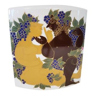 Bjorn Wiinblad Porcelain Vase For Sale
