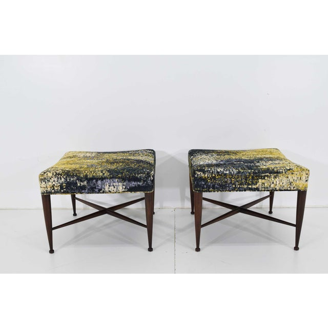 Dunbar X-Base Stools by Edward Wormley For Sale - Image 13 of 13