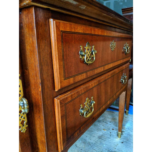 Beautiful Lexington Arnold Palmer collection cherry wood sideboard/buffet. Brass hardware. Approximately 20 years old,...
