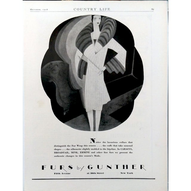 "1928 ""Furs by Gunther"" Advertisments - Pair - Image 6 of 10"