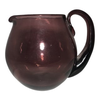 Blenko Mid-Century Modern Glass Amethyst Purple Pitcher For Sale